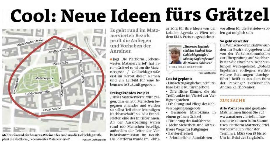 """""""Cool: Neue Ideen fürs Grätzel"""""""
