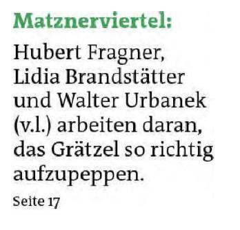 """""""Festl, Grünfläche und Arbeitsplätze"""""""