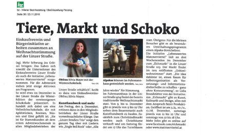 Elchmarkt in der Bezirkszeitung