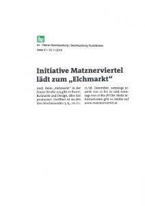 Elchmarkt_Bezirkszeitung Rudolfsheim 2016-11-23