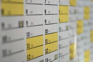 Kalenderausschnitt