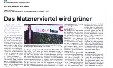 Bezirkszeitung: Matznerviertel wird grüner