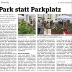 Unser Parklet in der Bezirkszeitung