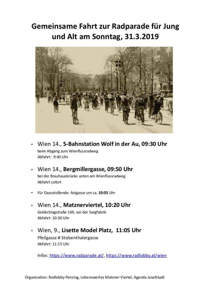 Bild mit Radfahrenden und Treffpunkte