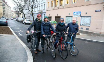 Beseitigung des letzten Engpasses für Radfahrende in der Goldschlagstraße