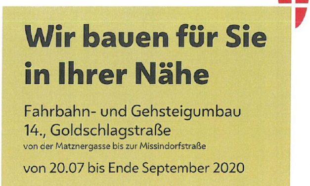 Umbau Goldschlagstrasse – Es geht los!